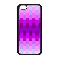 Geometric Cubes Pink Purple Blue Apple Iphone 5c Seamless Case (black)