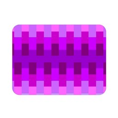 Geometric Cubes Pink Purple Blue Double Sided Flano Blanket (mini)