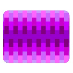 Geometric Cubes Pink Purple Blue Double Sided Flano Blanket (large)