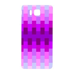 Geometric Cubes Pink Purple Blue Samsung Galaxy Alpha Hardshell Back Case
