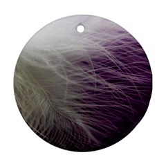 Feather Ease Airy Spring Dress Ornament (round) by Nexatart