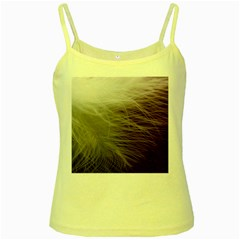 Feather Ease Airy Spring Dress Yellow Spaghetti Tank