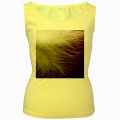 Feather Ease Airy Spring Dress Women s Yellow Tank Top