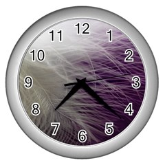 Feather Ease Airy Spring Dress Wall Clocks (silver)  by Nexatart