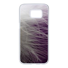 Feather Ease Airy Spring Dress Samsung Galaxy S7 Edge White Seamless Case