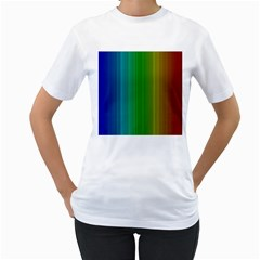Spectrum Colours Colors Rainbow Women s T Shirt (white) (two Sided)