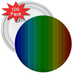 Spectrum Colours Colors Rainbow 3  Buttons (100 Pack)