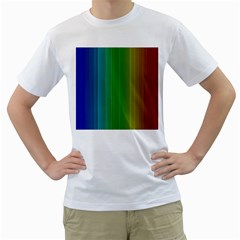 Spectrum Colours Colors Rainbow Men s T Shirt (white) (two Sided)