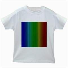 Spectrum Colours Colors Rainbow Kids White T Shirts