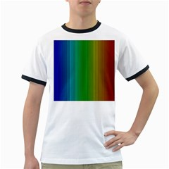 Spectrum Colours Colors Rainbow Ringer T Shirts by Nexatart