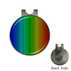 Spectrum Colours Colors Rainbow Hat Clips With Golf Markers