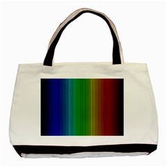 Spectrum Colours Colors Rainbow Basic Tote Bag (two Sides)