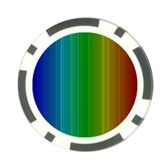 Spectrum Colours Colors Rainbow Poker Chip Card Guard