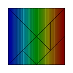 Spectrum Colours Colors Rainbow Acrylic Tangram Puzzle (6  X 6 )