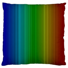 Spectrum Colours Colors Rainbow Standard Flano Cushion Case (one Side)
