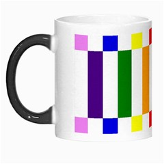 Rainbow Color Blocks Red Orange Morph Mugs
