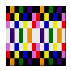 Rainbow Color Blocks Red Orange Face Towel by Nexatart