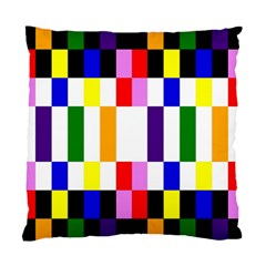 Rainbow Color Blocks Red Orange Standard Cushion Case (one Side)