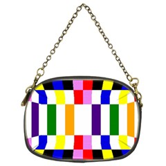 Rainbow Color Blocks Red Orange Chain Purses (two Sides)