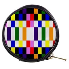 Rainbow Color Blocks Red Orange Mini Makeup Bags