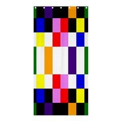 Rainbow Color Blocks Red Orange Shower Curtain 36  X 72  (stall)
