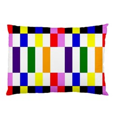 Rainbow Color Blocks Red Orange Pillow Case (two Sides)