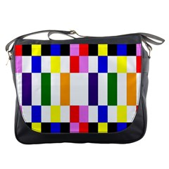 Rainbow Color Blocks Red Orange Messenger Bags