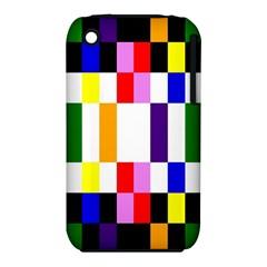 Rainbow Color Blocks Red Orange Iphone 3s/3gs
