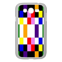 Rainbow Color Blocks Red Orange Samsung Galaxy Grand Duos I9082 Case (white)