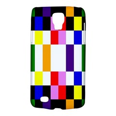 Rainbow Color Blocks Red Orange Galaxy S4 Active by Nexatart