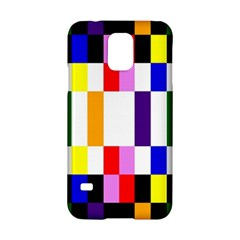 Rainbow Color Blocks Red Orange Samsung Galaxy S5 Hardshell Case