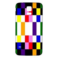 Rainbow Color Blocks Red Orange Samsung Galaxy S5 Back Case (white) by Nexatart