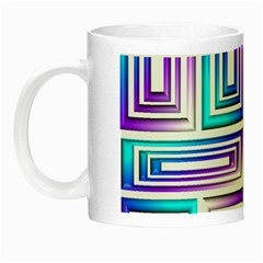 Geometric 3d Metallic Aqua Purple Night Luminous Mugs