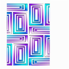 Geometric 3d Metallic Aqua Purple Small Garden Flag (two Sides)