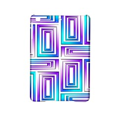 Geometric 3d Metallic Aqua Purple Ipad Mini 2 Hardshell Cases