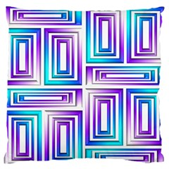 Geometric 3d Metallic Aqua Purple Standard Flano Cushion Case (two Sides)