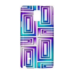 Geometric 3d Metallic Aqua Purple Samsung Galaxy Note 4 Hardshell Case