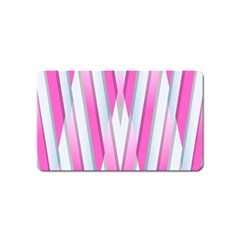 Geometric 3d Design Pattern Pink Magnet (name Card)
