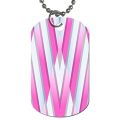 Geometric 3d Design Pattern Pink Dog Tag (one Side)
