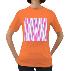 Geometric 3d Design Pattern Pink Women s Dark T Shirt