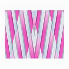 Geometric 3d Design Pattern Pink Small Glasses Cloth (2 Side)