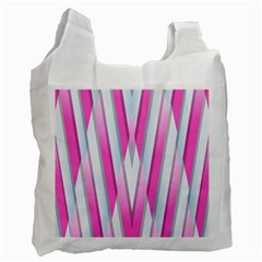 Geometric 3d Design Pattern Pink Recycle Bag (one Side)