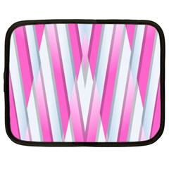 Geometric 3d Design Pattern Pink Netbook Case (xxl)