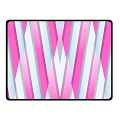 Geometric 3d Design Pattern Pink Fleece Blanket (small)