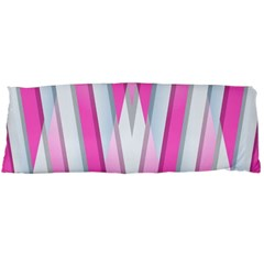 Geometric 3d Design Pattern Pink Body Pillow Case Dakimakura (two Sides)