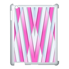 Geometric 3d Design Pattern Pink Apple Ipad 3/4 Case (white) by Nexatart