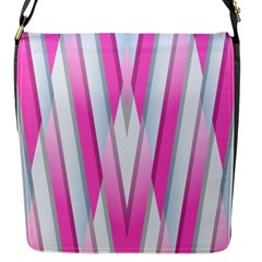 Geometric 3d Design Pattern Pink Flap Messenger Bag (s)