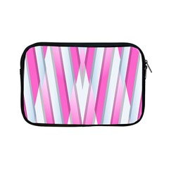 Geometric 3d Design Pattern Pink Apple Ipad Mini Zipper Cases