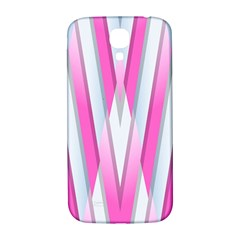 Geometric 3d Design Pattern Pink Samsung Galaxy S4 I9500/i9505  Hardshell Back Case