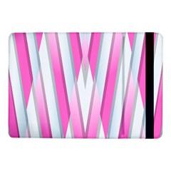 Geometric 3d Design Pattern Pink Samsung Galaxy Tab Pro 10 1  Flip Case